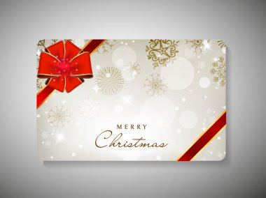Gift card for Merry Christmas celebration. EPS 10.