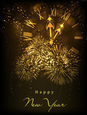 Fotografie Greeting card or gift card for Happy New Year celebration. EPS 1