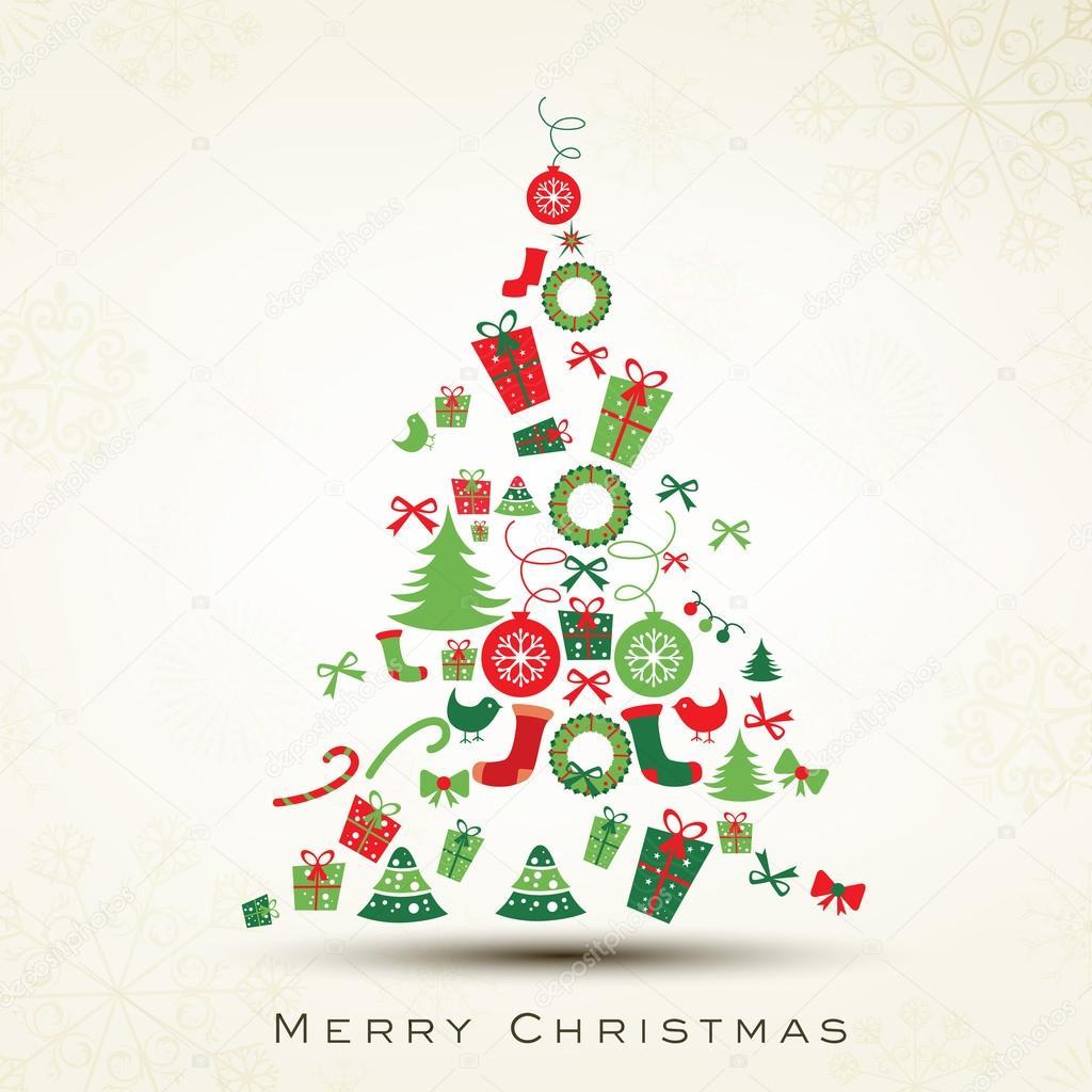 prachtige Kerstboom voor merry christmas celebration. EPS 10 ...