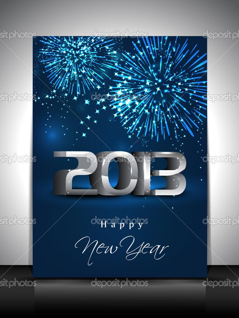 Grusskarte oder Geschenkkarte für frohes neues Jahr-Feier. EPS 1 ...