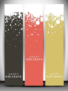 Happy Holidays website banners. EPS 10.