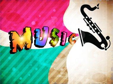 Retro Musical background. EPS 10.