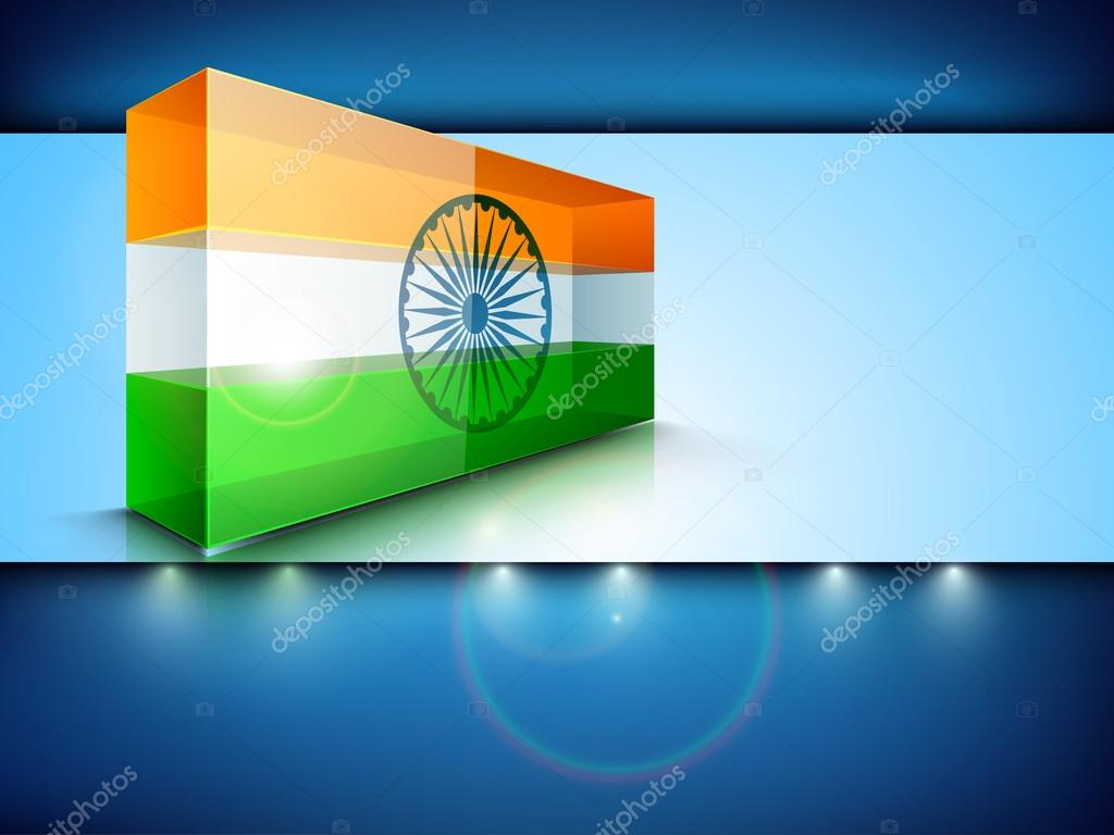 Presentation of Indian National Flag. EPS 10. stock vector