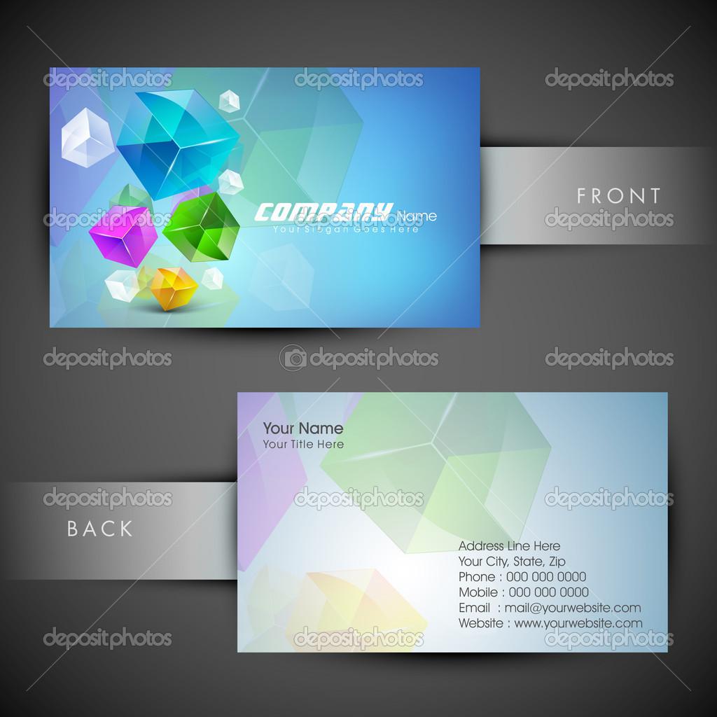 Modele De Carte Visite Professionnelle Et Concepteur Abstraite Ou Jeu EPS 10 Illustration Stock
