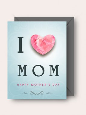 Greeting or Gift card with for Happy Mothers Day celebration.