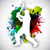 Cricket-Schlagmann im Bewegungsspiel, Sportkonzept.