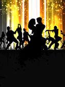 Fényképek zenei dance party háttér. szórólap, vagy banner