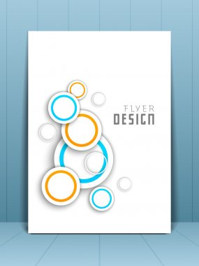 Professional business flyer template or corporate banner wave pa