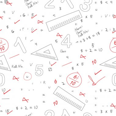 Back to school seamless patterns.