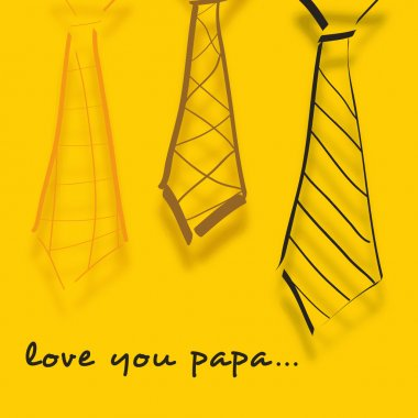 Happy Fathers Day concept banner, flyer or poster design with sk