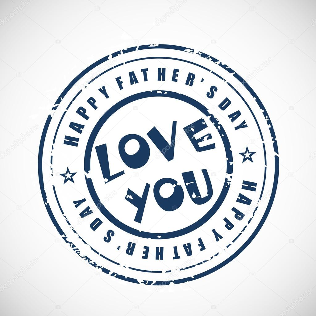 Blue rubber stamp for happy fathers day with grungy text love yo blue rubber stamp for happy fathers day with grungy text love yo stock vector biocorpaavc Images