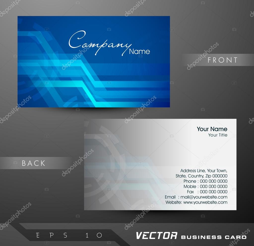 Professional and designer business card template or visiting car ...
