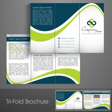 Professional business three fold flyer template, corporate brochure or cover design can be use for publishing, print and presentation. stock vector