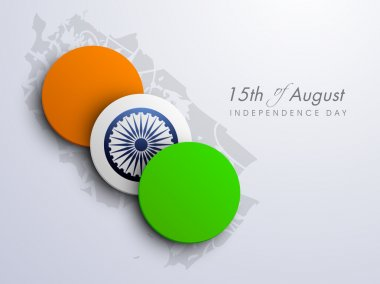 Indian Independence Day background, creative concept of national