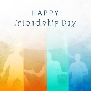 Happy Friendship Day background. clip art vector