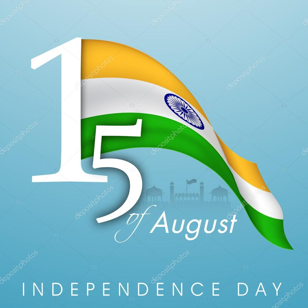 Indian Independence Day background with text 15th of August and