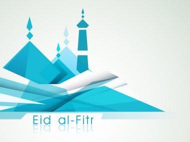Muslim community festival Eid Mubarak background.
