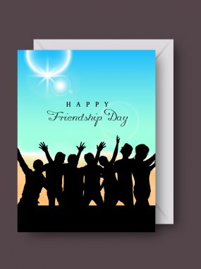 Happy Friendship Day background or concept. clip art vector