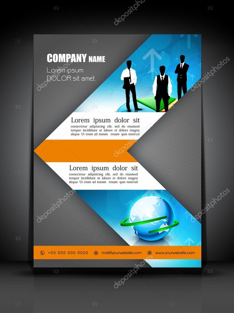 profesionales de negocios folleto plantilla o diseño de banner ...