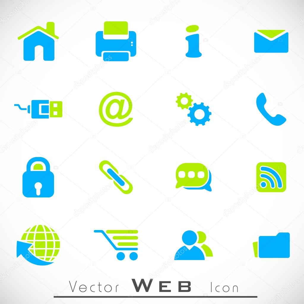 3D web 2.0 mail icons set can be used for websites, web applicat