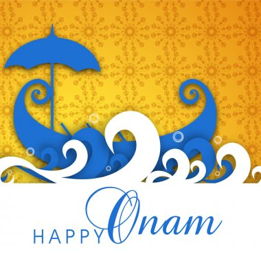 South Indian festival Onam wishes background stock vector