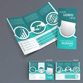 Professionelle Business drei Falten Flyer Vorlage, Unternehmensbroschüre oder Cover-Design, können für Veröffentlichung, Druck und Präsentation