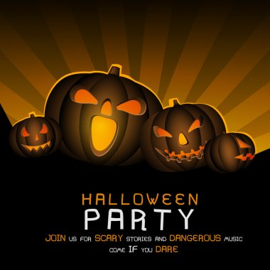 Scary poster, banner or flyer for Halloween Party.