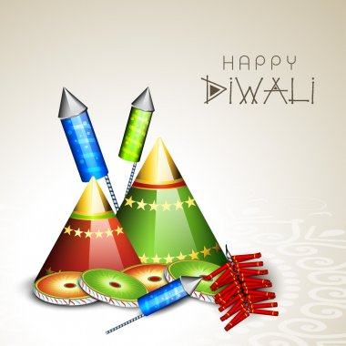 Happy Diwali, festival of lights celebration background in India.