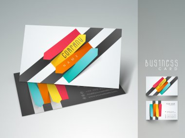 Professional and designer business card set or visiting card set. EPS 10.