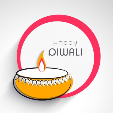 Happy Diwali, festival of lights celebration in India.