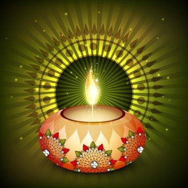 Happy Diwali, festival of lights celebration background.