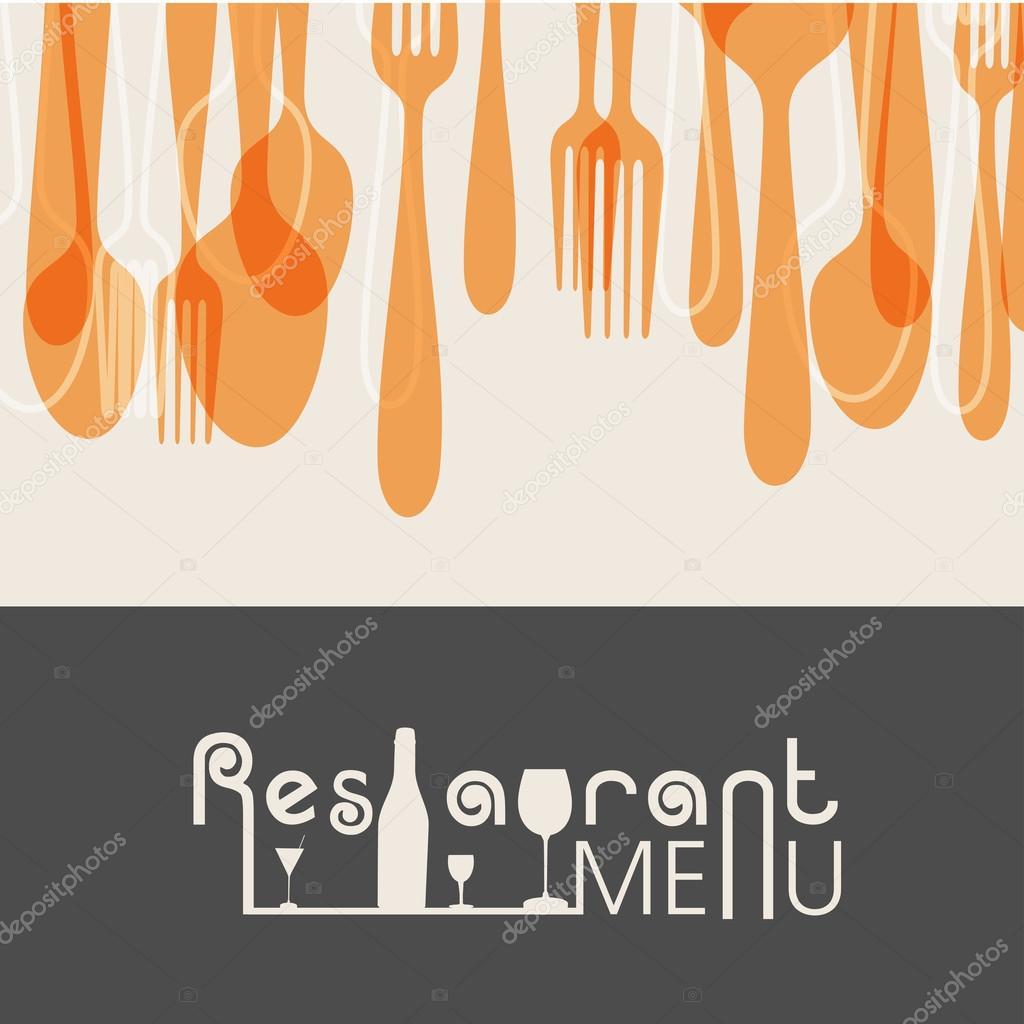 Restaurant menu card design.
