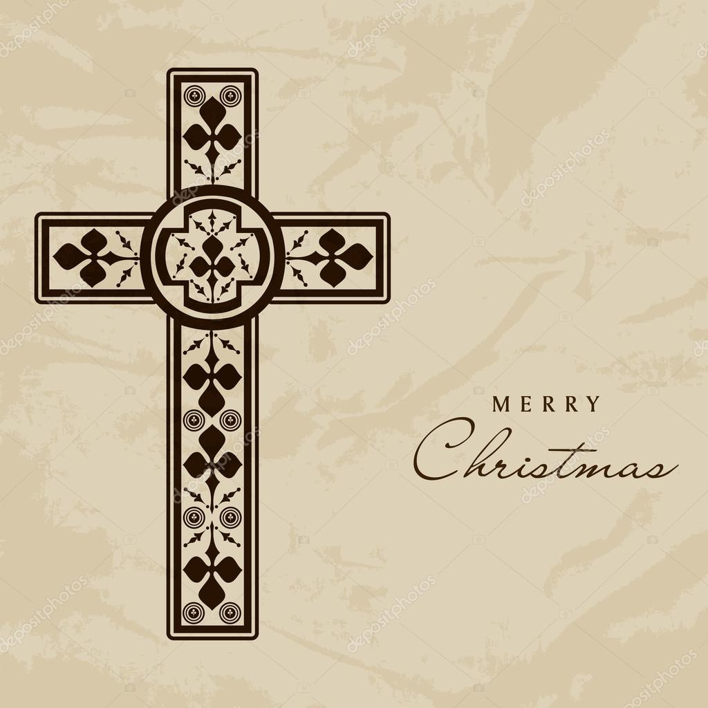 Merry christmas and happy new year 2014 celebration concept with merry christmas and happy new year 2014 celebration concept with christian cross stock vector voltagebd Image collections