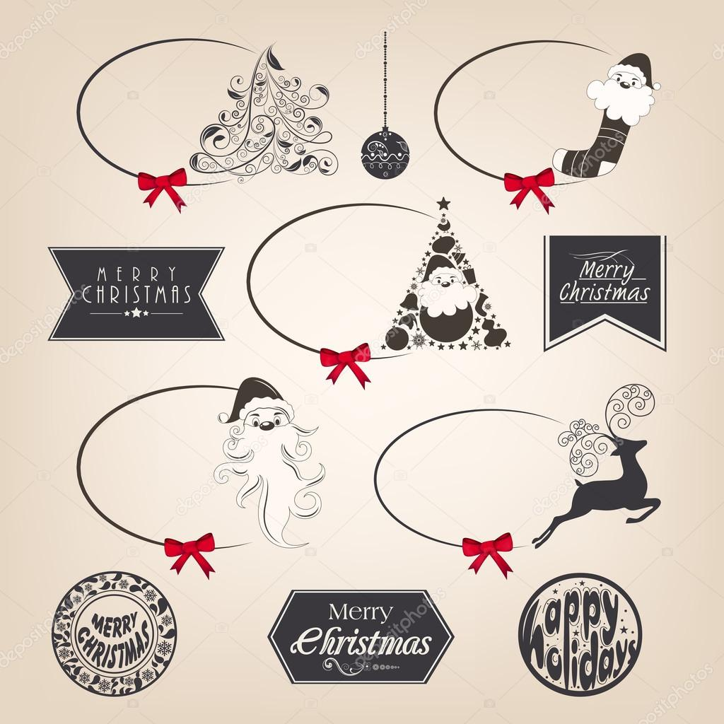 Calligraphic and typographic elements, frames, vintage labels ...