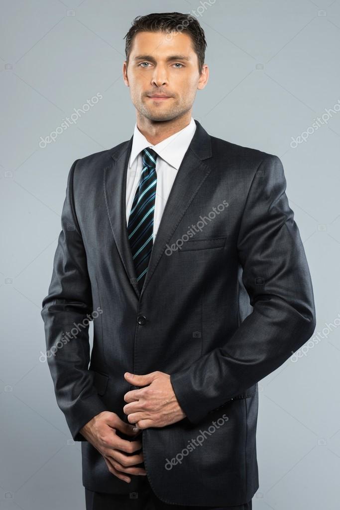 slips till svart kostym