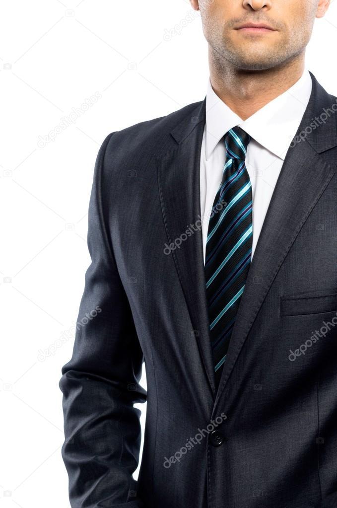 vestido bien Hombre con corbata traje negro y UBOqSRO6 6e84718ffdf