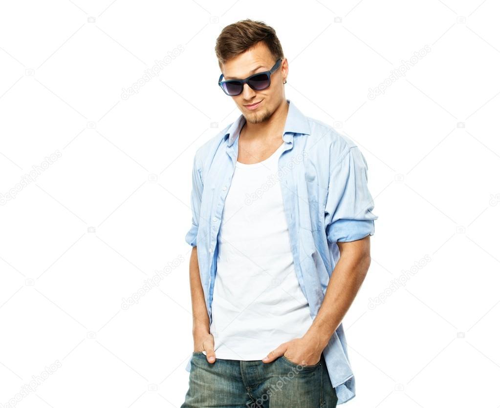 Camicia Camicia Su Uomo Azzurra Jeans Azzurra OXk80wPn
