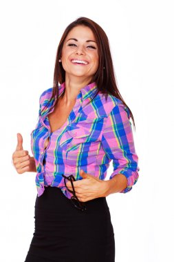 Young woman is a great mood