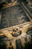 Gothic Totenkopf mit Flügeln