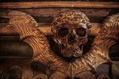 Fotografie Gothic Totenkopf mit Flügeln