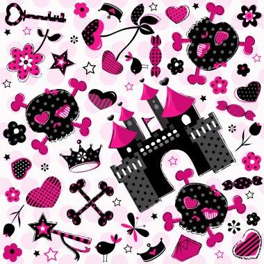 girlish aggressive pattern