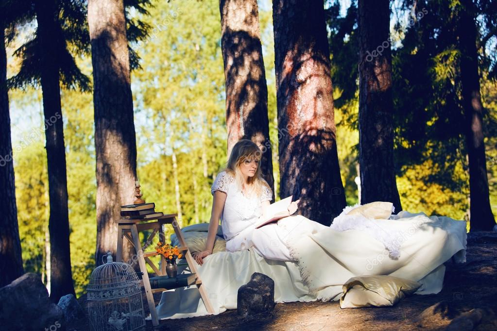 The bed in the forest