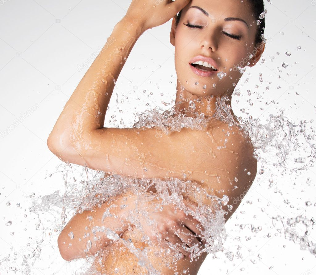 beautiful naked woman with wet body — stock photo © valuavitaly