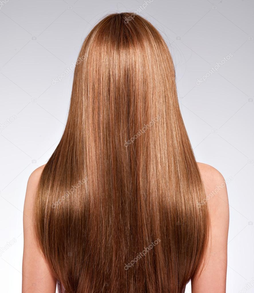 långt hår bakifrån