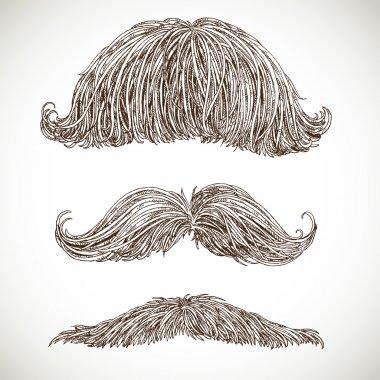 Retro mustache set 3