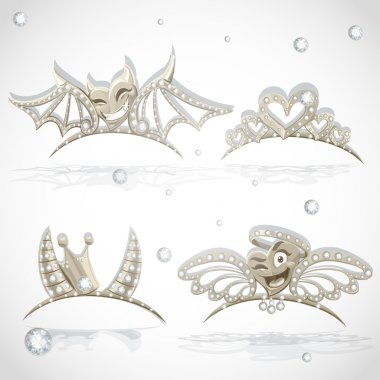 Tiaras with hearts for carnival costume to the angel and the devil
