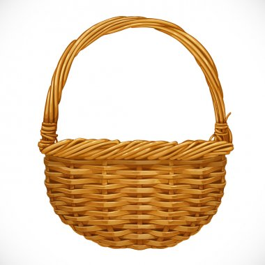 Realistic wicker basket