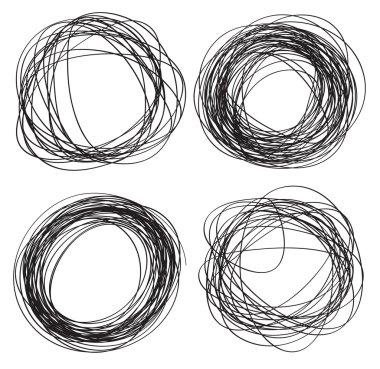 Circles drawn in pencil