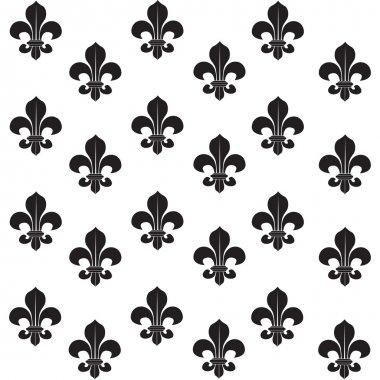 Fleur-de-lys seamless background clip art vector