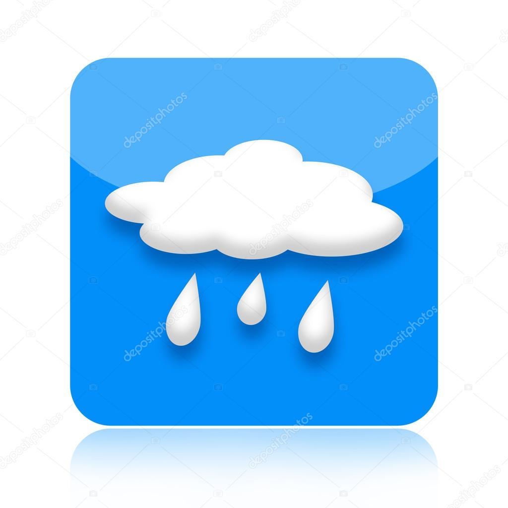 raining weather icon u2014 stock photo skovoroda 23293478